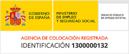 Agencia de colocación registrada con identificación 1300000132 en el Servicio Público de Empleo Estatal